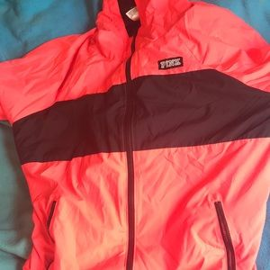 Victoria secret pink windbreaker jacket